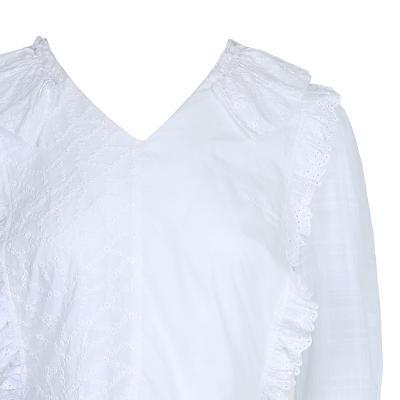 lace detail side ribbon blouse